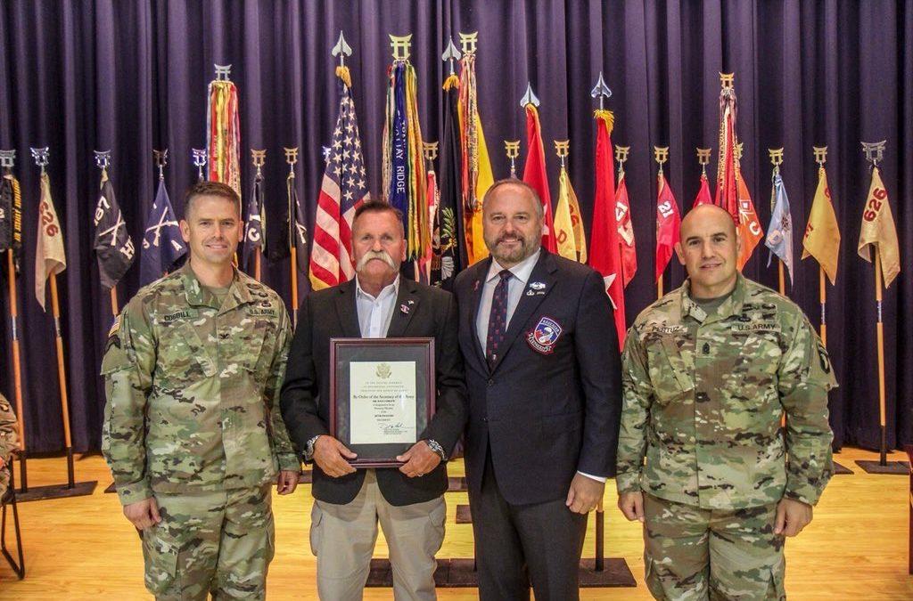 Nashville Music Industry Veteran David Corlew Named Honorary Member of 187th Airborne Infantry Regiment