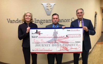 THE JOURNEY HOME PROJECT DONATES $50,000 TO VANDERBILT-INGRAM CANCER CENTER TO AID US MILITARY VETS BATTLING CANCER